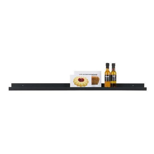 Półka na zdjęcia czarna 120 cm Woood, 370074-Z