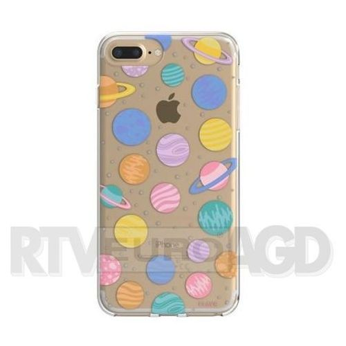 Etui iplate happy planets do apple iphone 6 plus/7 plus/6s plus/8 plus wielokolorowy (30011) marki Flavr