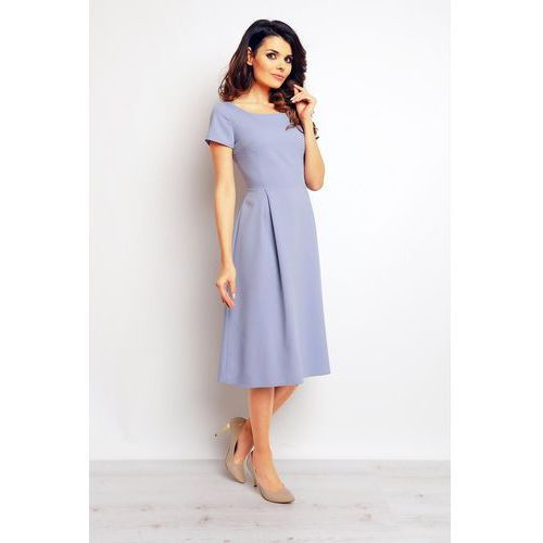 Jasno niebieska klasyczna i elegancka sukienka midi, Infinite you, 36-42
