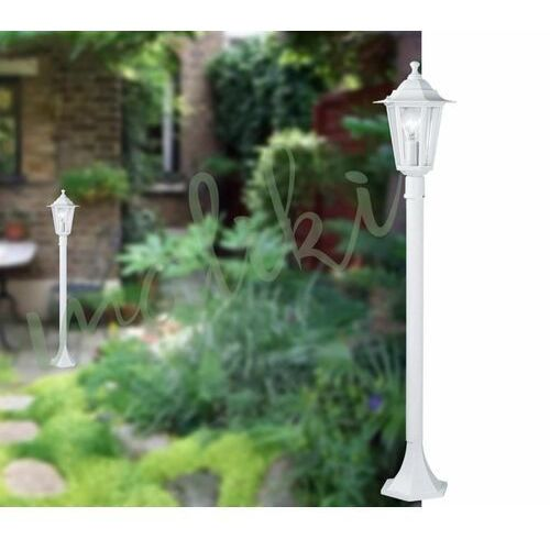 Biała latarnia ogrodowa 1xe27 outlet marki Eglo