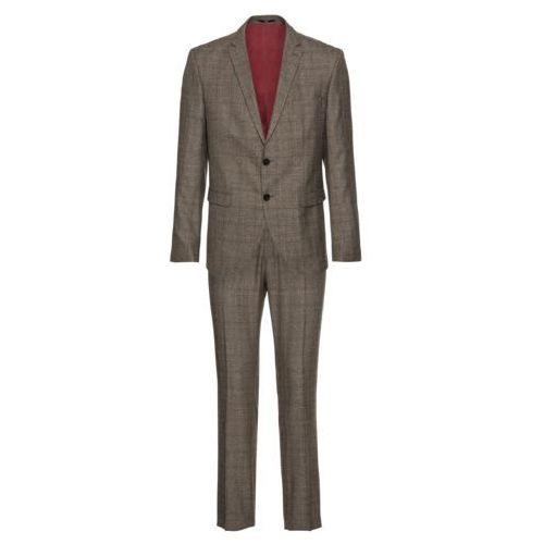 garnitur 'slhslim-mylologan brown check suit b' brązowy marki Selected homme