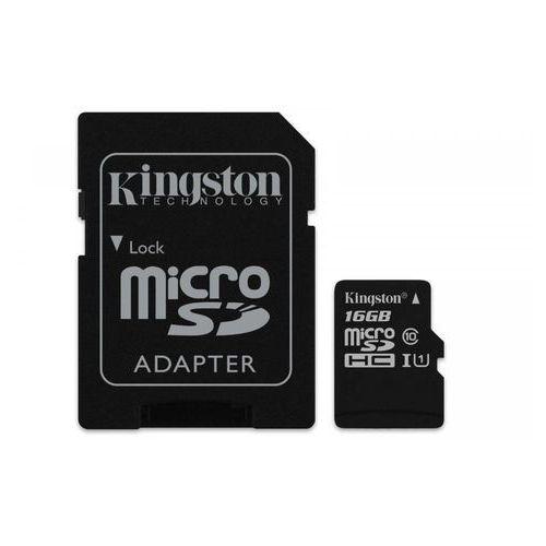 Kingston Karta pamięci micro sd class 10 canvas select 16gb + adaptersd
