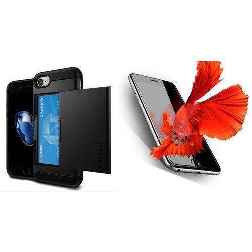 Zestaw | spigen sgp slim armor cs black | obudowa + szkło ochronne perfect glass dla modelu apple iphone 7 marki Sgp - spigen / perfect glass