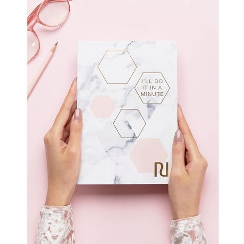 River Island A5 Marble 'I'll Do It In A Minute' Notepad - Multi