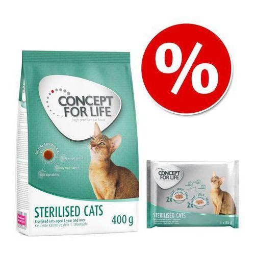 Pakiet , 400 g + karma mokra concept for life, 4 x 85 g - kitten marki Concept for life