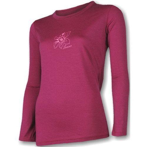 Sensor koszulka termoaktywna z długim rękawem Merino Wool PT W Orchidea Lila L (8595233898460)