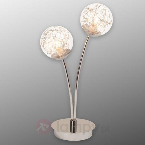 Brilliant Joya - 2-pkt. lampa stołowa ze szklanymi kloszami (4004353215865)