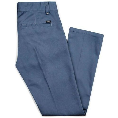 Spodnie - fleet rgd chino pant grey blue (gyblu) rozmiar: 38, Brixton