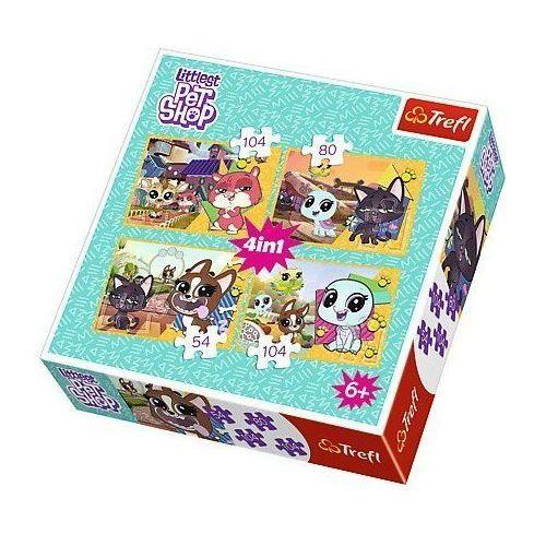 Trefl Puzzle 4w1 - littlest pet shop, mile wspomnienia - darmowa dostawa od 199 zł!!! (5900511342956)