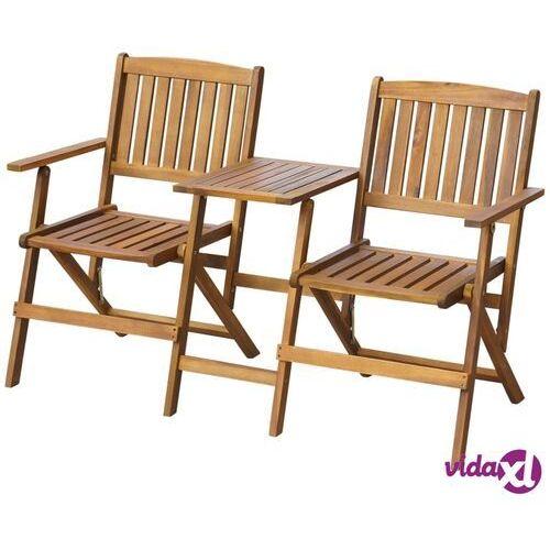 ławka ogrodowa z rozkładanym stolikiem, drewno akacjowe marki Vidaxl