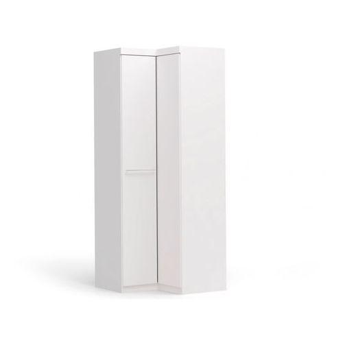 Szafa narożnikowa alrik - 2 drzwi - dł.93 cm - kolor: biały marki Vente-unique