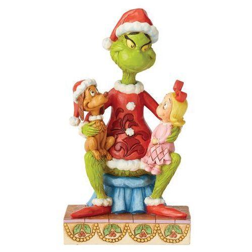 """Grinch cindy lou i max z bajki """"grinch świąt nie będzie"""" grinch w/cindy and max 6004064 marki Jim shore"""