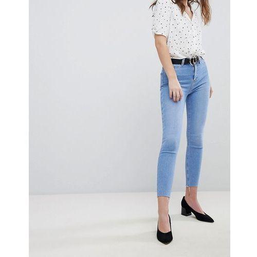 New Look Super Skinny High Rise Frayed Hem Jean - Blue, skinny