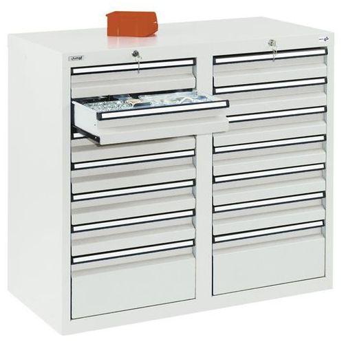 Stumpf-metall Szafka z szufladami, wys. x szer. x gł. 900x1000x500 mm, 12 szuflad o wys. 100 m