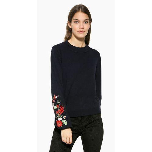 Desigual  sweter damski txell l ciemnoniebieski