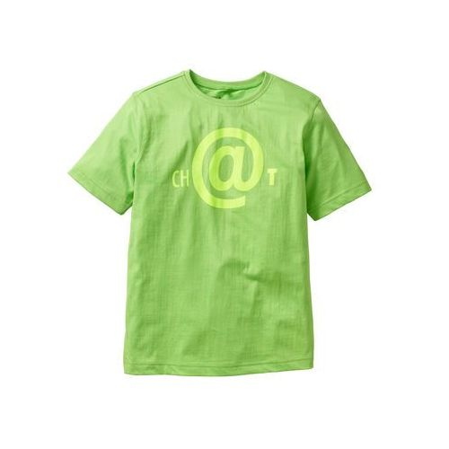 Koszulka bonprix jaskrawy zielony, kolor zielony