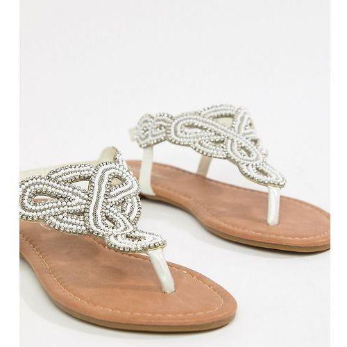 embellished flat sandals - white marki Park lane