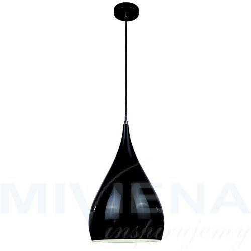 Convex lampa wisząca 1 metal czarna 24 cm, kolor czarny,