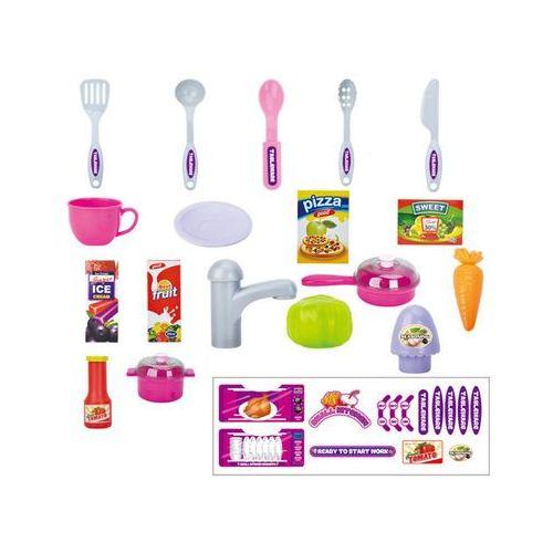 Kindersafe Duża kuchnia walizka + akcesoria 43 el. mały kucharz w097