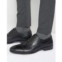 brogues in black leather - black, Red tape