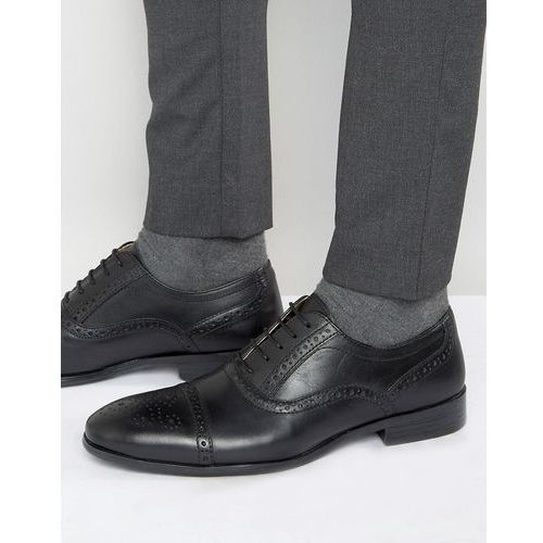 brogues in black leather - black marki Red tape