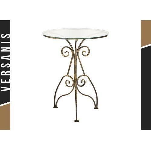Szklany stolik kawowy retro duży - marki Kapelańczyk