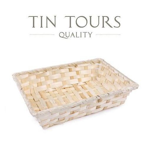 Tin tours sp.z o.o. Prostokątny koszyk bambusowy 24x16x5h cm