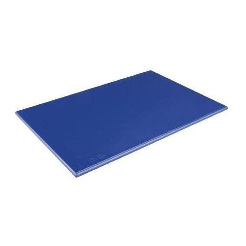 OUTLET - Deska do krojenia HDPE   niebieska   450x300x25mm