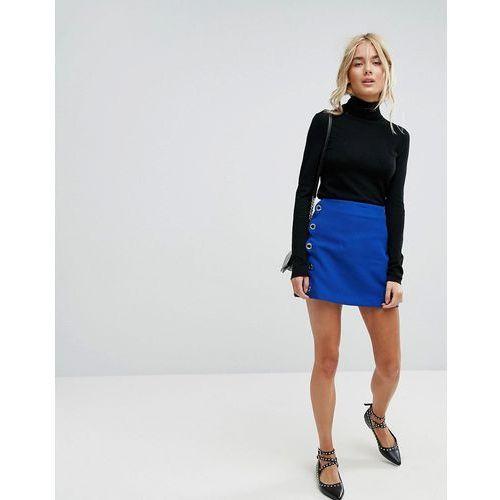 Mango Mini Skirt - Blue, kolor niebieski