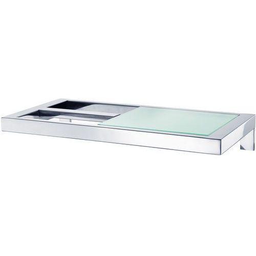 Uchwyt na papier toaletowy z półką Menoto polerowany (4008832688324)