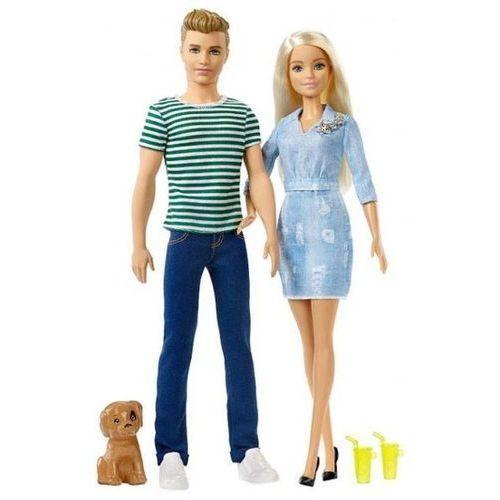 OKAZJA - Mattel - zestaw lalek barbie i ken z pieskiem