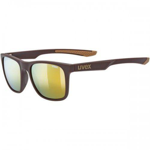 Uvex okulary lgl 42 (s3) brown mat (brązowy mat) z szybą mirror gold
