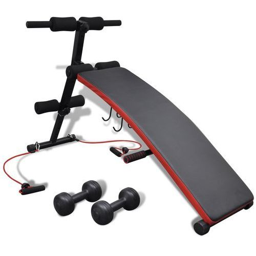 vidaXL Regulowana wielofunkcyjna ławeczka do ćwiczeń z 3 kg obciązenia - produkt z kategorii- Ławki treningowe