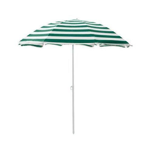 Jumi Parasol plażowy 180 cm zielono-biały w paski
