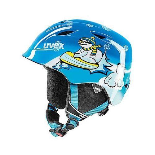 Dziecięcy kask narciarski  airwing 2 blue snowman s (52-54 cm) marki Uvex