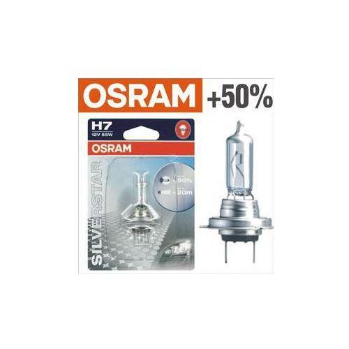 Żarówka samochodowa Osram 12V H7 55W PX26d 1 szt Silverstar +50% ()
