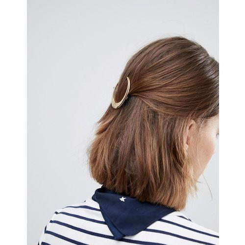 cresent hair clip - gold marki Orelia