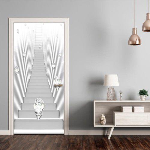 Artgeist Fototapeta na drzwi - tapeta na drzwi - białe schody i klejnoty