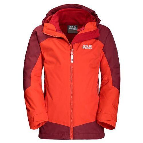 Jack wolfskin Kurtka dziecięca 3w1 akka 3in1 jacket boys - lava orange (4055001633722)