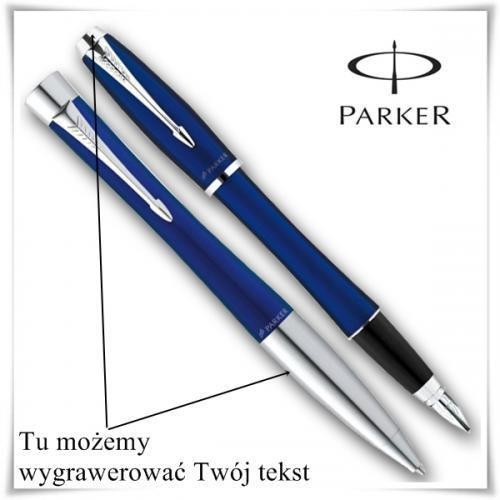 OKAZJA - Zestaw długopis i pióro Parker Urban Fashion Niebieski CT + opcja graweru z kategorii Na imieniny dla męża