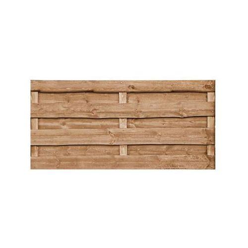 Płot szczelny 90x90 cm drewniany olcha NEVADA WERTH-HOLZ (5902860165804)
