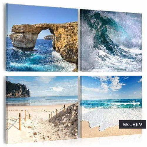 obraz - piękno oceanu 80x80 cm marki Selsey