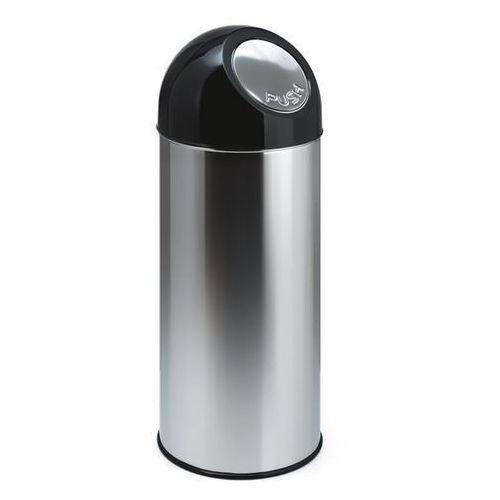 Pojemnik na odpady PUSH, stal szlachetna, poj. 55 l, pojemnik wewn ocynkowany, n