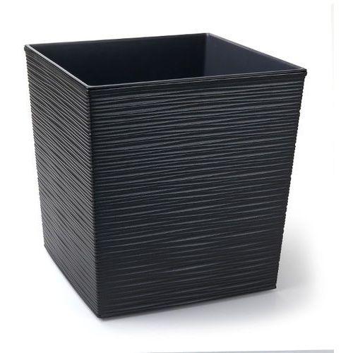 Chomik Doniczka juka 300x300 mm z wkładem dłuto grafit metalik 6002 (5900119506002)
