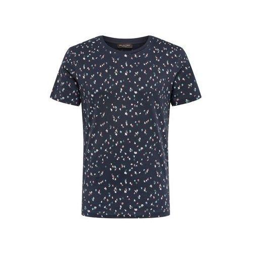 koszulka 'sum' ciemny niebieski / mieszane kolory / biały marki Selected homme