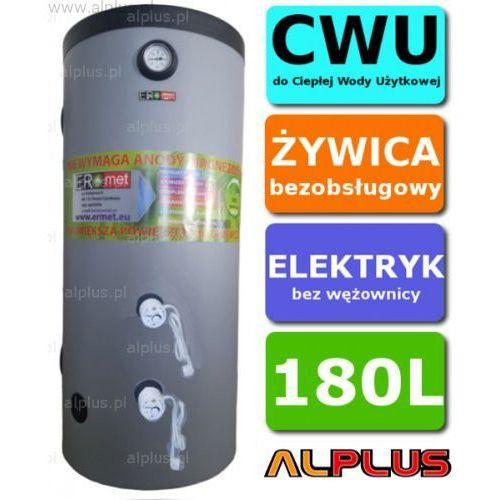 Ermet Elektryczny bojler 180l 4kw (2x2kw) slim- wąski i wysoki, ogrzewacz pionowy zasobnik wysyłka gratis