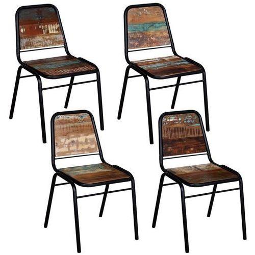 Vidaxl 4 krzesła z drewna odzyskanego, 44 x 59 89 cm