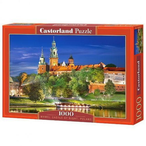 Puzzle 1000 wawel castle by night, poland castor marki Castorland