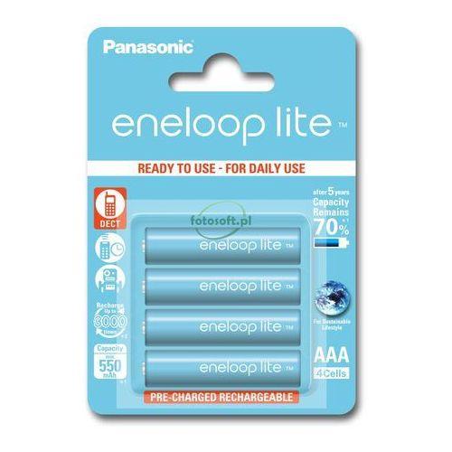 Panasonic Eneloop LITE AAA 550 mAh 3000 cykli 4szt. (5410853052760)
