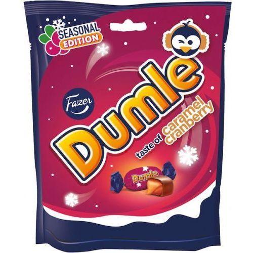 Dumle - Caramel Cranberry - cukierki z nadzieniem o smaku żurawiny - 220g - z Finlandii (6416453073258)